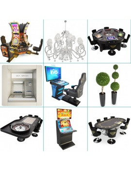 casino-machine-and-lighting-collection-3d-models-cover