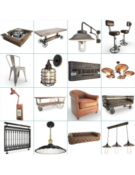 collection-of-pub-vintage-furniture-3d-cover