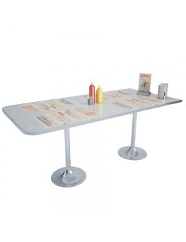 table-american-diner-modele-3d