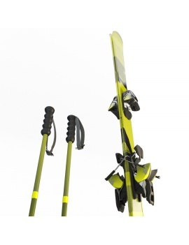 skis-and-sticks-3d-model