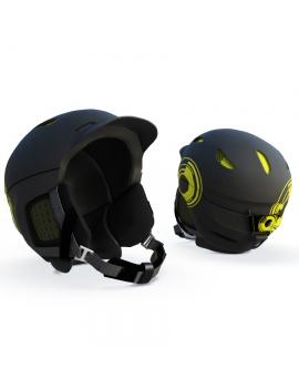 black-ski-helmet-3d-model