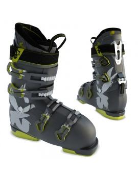 black-ski-shoes-3d-model