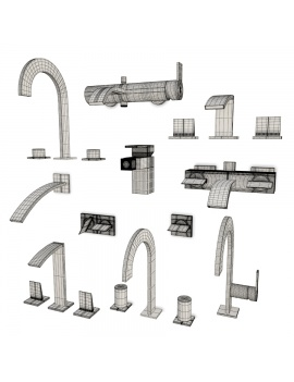 bathroom-faucets-giro-3d-models-wireframe