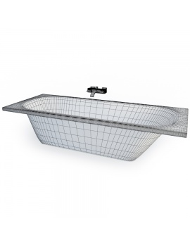 set-de-baignoires-modele-3d-01-filaire