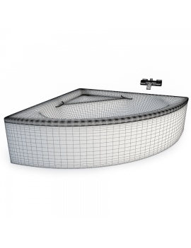 set-de-baignoires-modele-3d-02-filaire