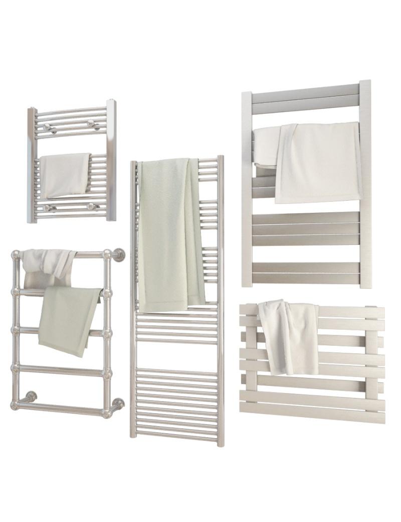 metallic-bathroom-radiators-3d-models