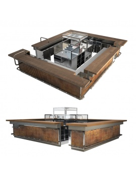 industrial-central-counter-3d-model