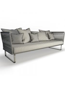 garden-sofa-bitta-kettal-3-seaters-3d-model-wireframe