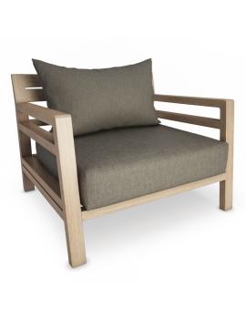 fauteuil-de-jardin-en-bois-costes-modele-3d