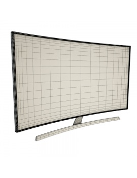 flat-and-curved-tv-3d-model-curved1-wireframe