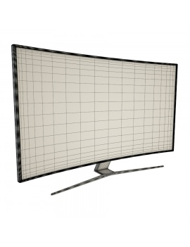 flat-and-curved-tv-3d-model-curved2-wireframe