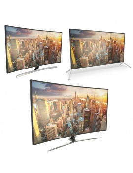 flat-and-curved-tv-3d-model