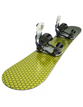 black-and-yellow-snowbard-3d-model