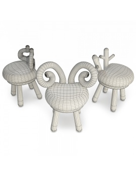 animals-kids-chairs-3d-model-wireframe