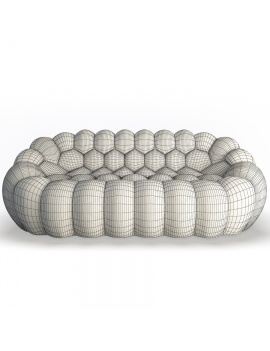 bubble-sofa-roche-bobois-3d-model-front-wireframe