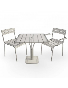 metallic-chairs-and-table-luxembourg-3d-model-wireframe
