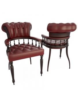 chaise-cuir-capitonnee-captain-modele-3d