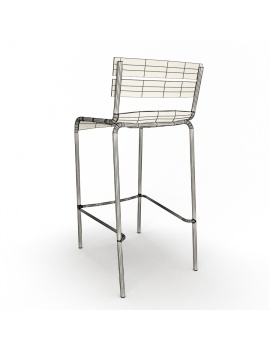 metallic-bar-stools-luxembourg-3d-model-wireframe-back