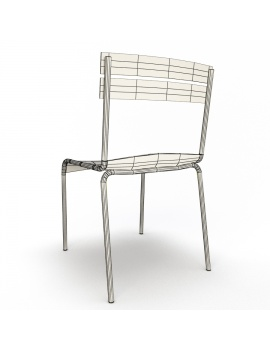metallic-chairs-luxembourg-3d-model-wireframe-back