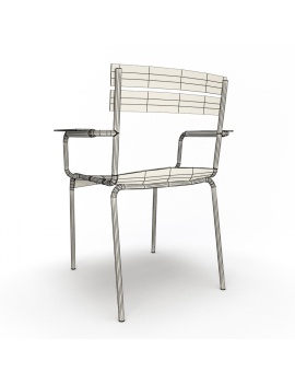 metallic-armchairs-luxembourg-3d-model-wireframe-back