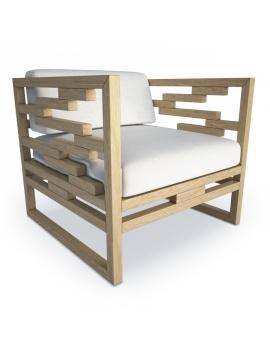fauteuil-en-teck-kontiki-modele-3d