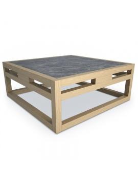 table-basse-en-teck-kontiki-modele-3d