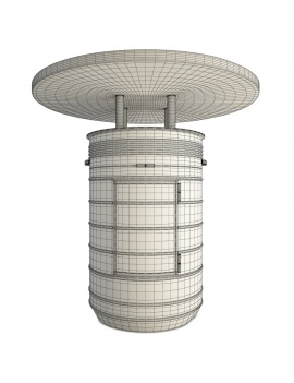 barrel-tables-and-tolix-bar-stools-3d-model-black-wireframe