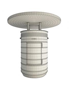 barrel-tables-and-tolix-bar-stools-3d-model-orange-wireframe