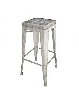 barrel-tables-and-tolix-bar-stools-3d-model-wireframe