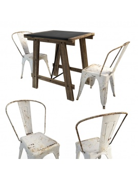 mesa-table-and-tolix-chairs-3d-model