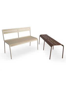 luxembourg-metallic-benches-fermob-3d-model