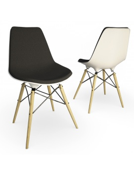 eames-chair-set-by-vitra-3d-model-dsw