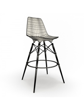 eames-chair-and-stool-by-vitra-3d-model-dsw-stool-wireframe-01
