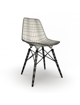 eames-chair-and-stool-by-vitra-3d-model-dsw-chair-wireframe-01