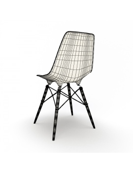 eames-chair-and-stool-by-vitra-3d-model-dsw-chair-wireframe-02