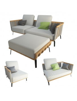 braided-sofa-and-footstool-welcome-unopiu-3d-model