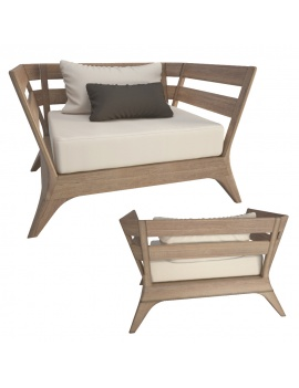 fauteuil-en-bois-village-ethimo-modele-3d