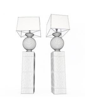 bottega-table-lamp-faiencerie-de-charolles-3d-model-wireframe