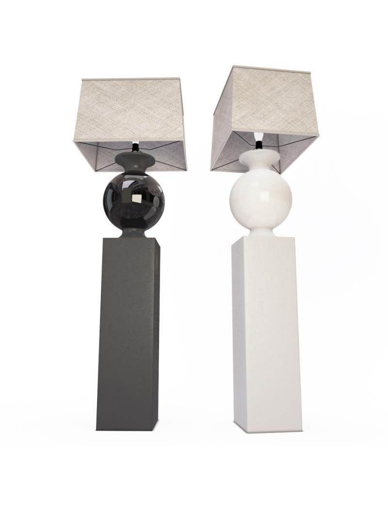 bottega-table-lamp-faiencerie-de-charolles-3d-model