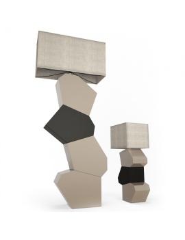 quiz-floor-lamp-faiencerie-de-charolles-3d-model
