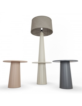 tosca-floor-lamp-and-table-faiencerie-de-charolles-3d-model