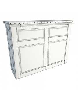 wooden-rustic-bar-counter-luberon-3d-model-front-wireframe