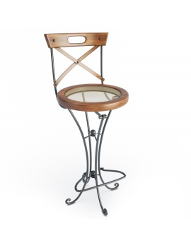 wooden-french-luberon-stool-model-3d