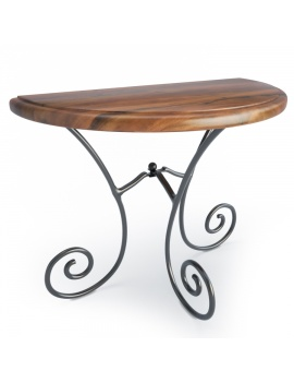 wooden-french-luberon-console-model-3d