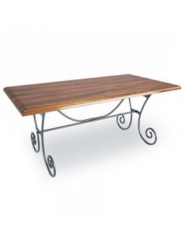 table-rectangulaire-en-bois-luberon-modele-3d