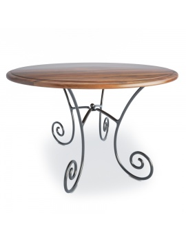 wooden-french-luberon-round-table-model-3d