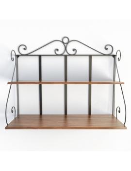 wooden-french-luberon-shelf-model-3d