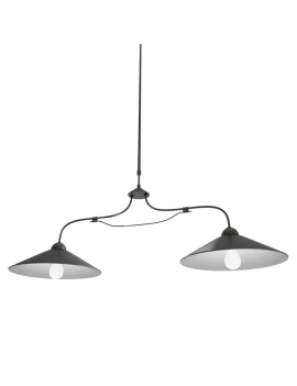french-luberon-iron-pendant-light-model-3d