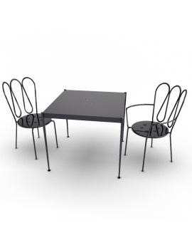 outdoor-table-and-chairs-fleurs-unopiu-3d-model