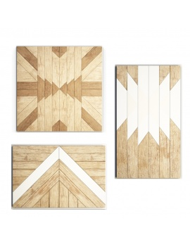 set-of-decorative-wood-panel-3d-model